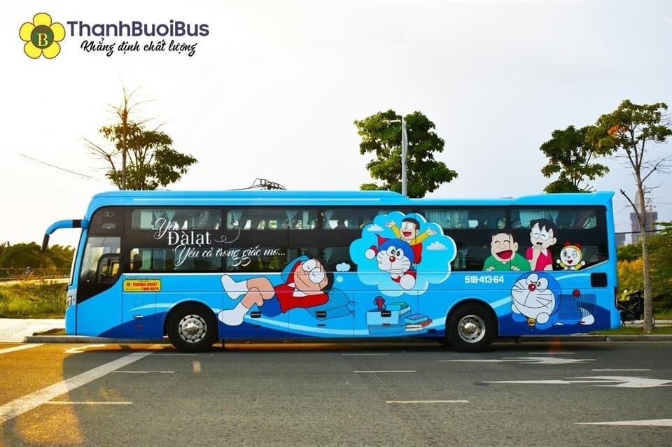 Nhà xe Thành Bưởi Tổng đài đặt vé, sơ đồ ghế trên xe Doraemon và Nobita