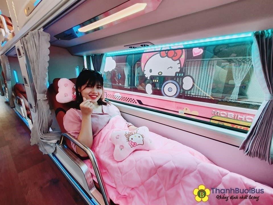 Nhà xe Thành Bưởi Tổng đài đặt vé, sơ đồ ghế trên xe Hello Kitty