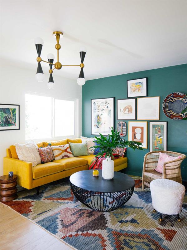 Họa tiết phù hợp giúp phòng khách sống động hơn
