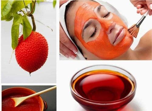 Cách chăm sóc da mặt trắng mịn với dầu quả gấc