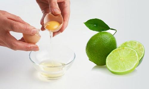 Chữa trị nám với mặt nạ từ lòng trắng trứng và chanh tươi