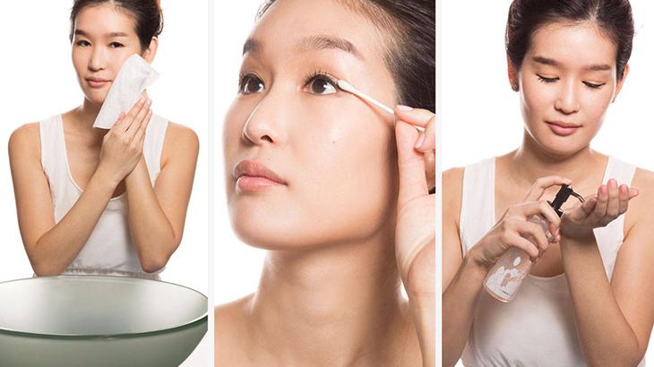Tẩy trang giúp loại bỏ bụi bẩn, tế bào chết trên da