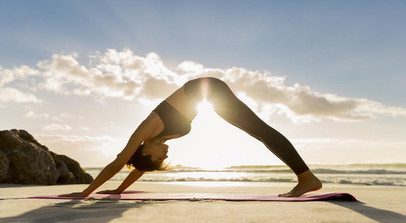 bài tập yoga buổi sáng là tư thế chó úp mặt