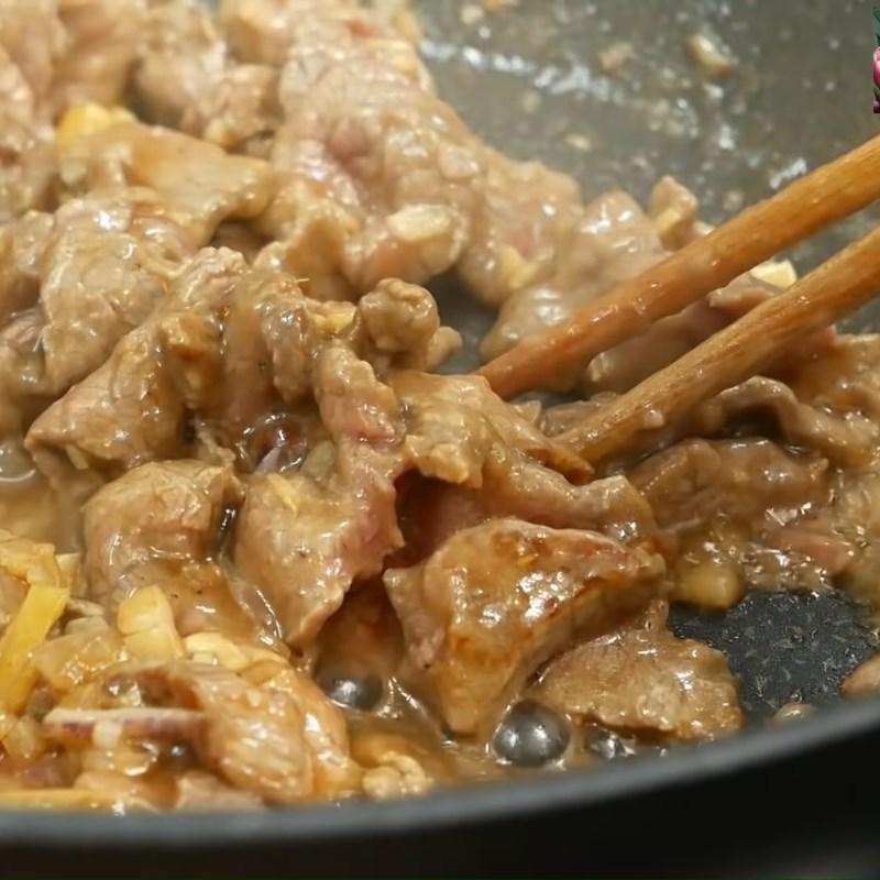 Xào thịt bò Cải thảo xào thịt bò