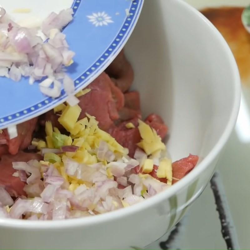 cải thảo xào thịt bò