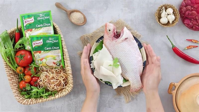 Cách chế biến Canh măng chua cá diêu hồng