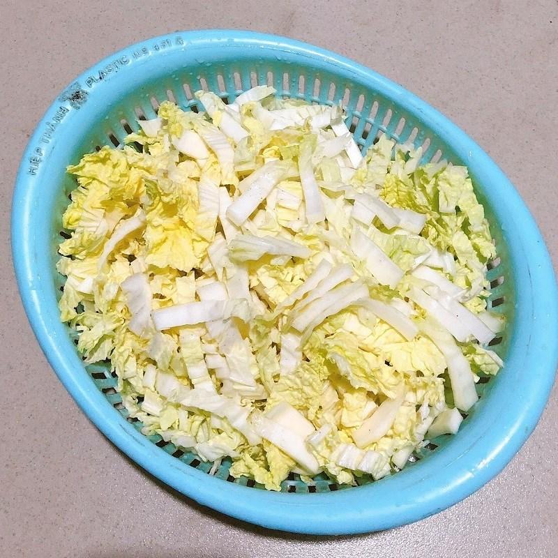 Canh cải thảo tôm khô